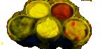 Ochucovadla, sůl, ocet, hořčice, kečup, dresinky, olivy, škrob, droždí