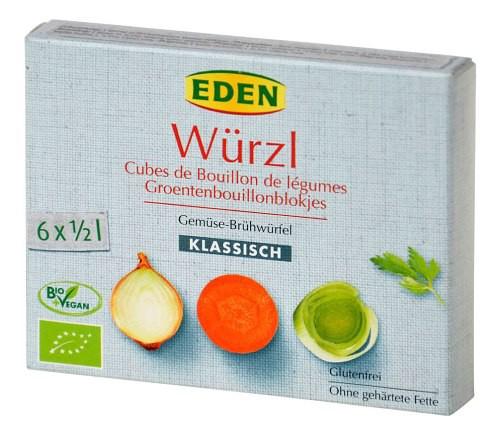 Eden: Zeleninový bujón kostky BIO 66g