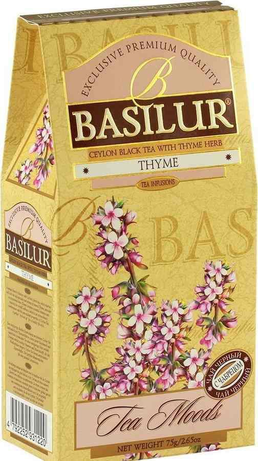Basilur: Black Tea Thyme 75g