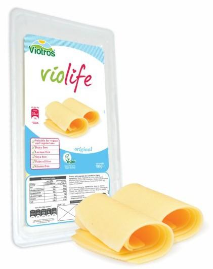 Violife: Rostlinný sýr plátkový Original 200g