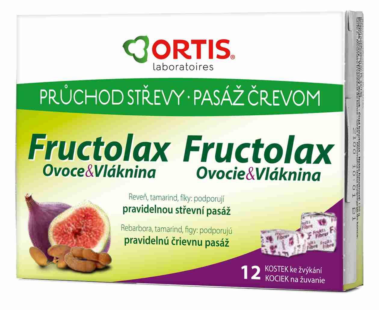 Ortis: Fructolax 12 žvýkacích kostek