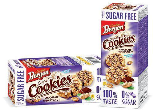 Sušenky čoko arašídové bez cukru 150g