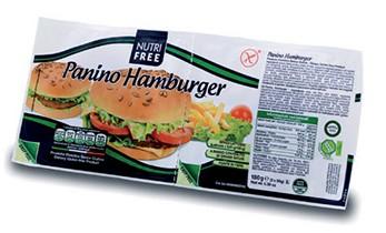 NutriFree: Žemle Panino Hamburger bezlepkové 2x90g