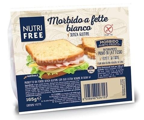 NutriFree: Toastový světlý chléb 165g