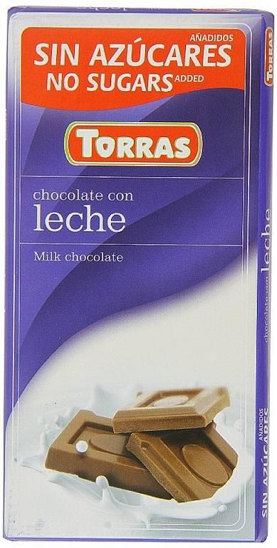 Čokoláda mléčná bez cukru 75g