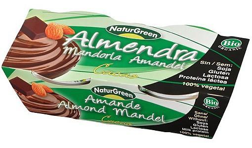 NaturGreen: Dezert mandlový s čokoládou BIO 2x125g