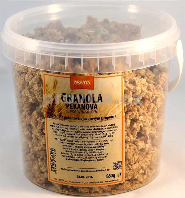 Granola pekanová s javorovým sirupem 850g