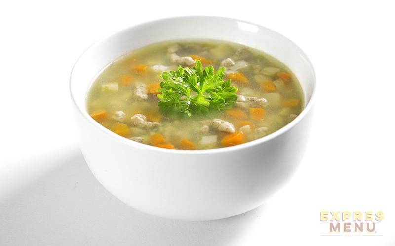 EXPRES MENU: Hovězí polévka s játrovou rýží bezlep. 300g