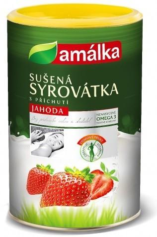 Amálka: Syrovátkový nápoj jahoda BIO 500g