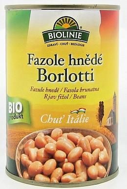 Biolinie: Fazole hnědé Borlotti BIO 400g