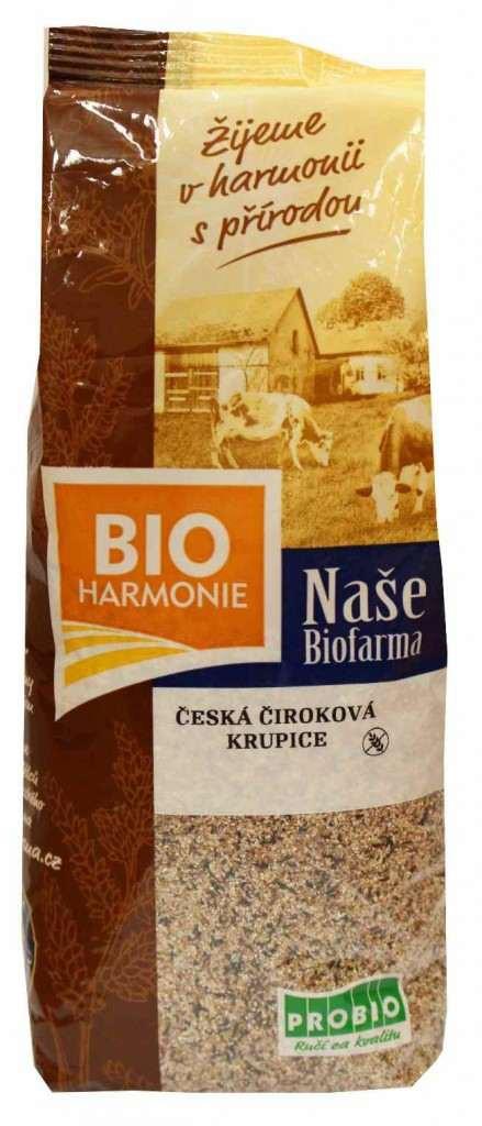 Naše biofarma: Česká čiroková krupice BIO 400g
