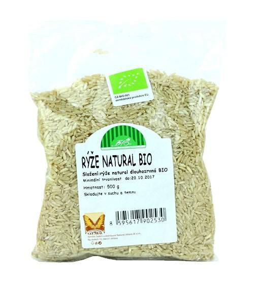 Rýže natural dlouhozrnná BIO 500g