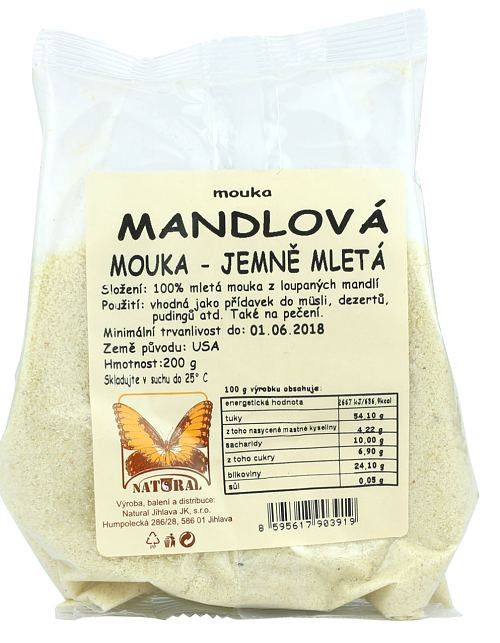 Mandlová mouka jemně mletá 200g