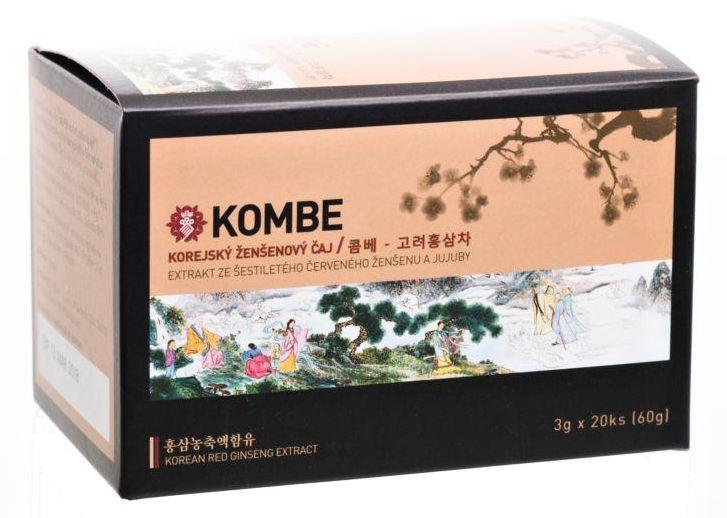 Kombe: Ženšenový čaj s jujubou 20x3g