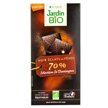 Čokoláda hořká s kousky kakaových bobů BIO 100g