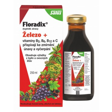 Floradix Železo + Vitamíny sirup 250ml