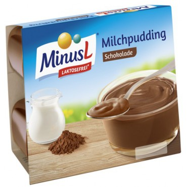 MinusL: Puding čokoládový bez laktózy 4x125g