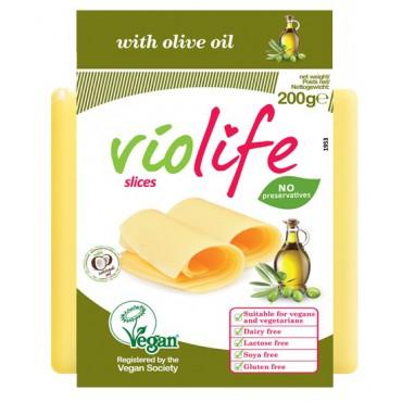 Violife: Rostlinný sýr plátkový s olivovým olejem 200g
