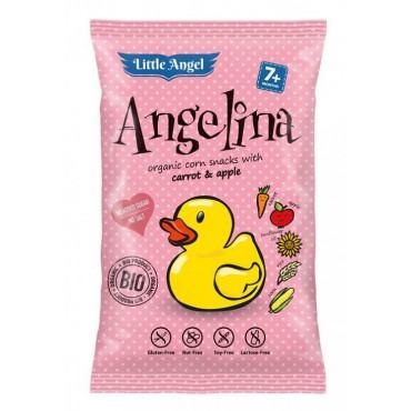Bezlepkový snack Angelina jablko-mrkev BIO 30g