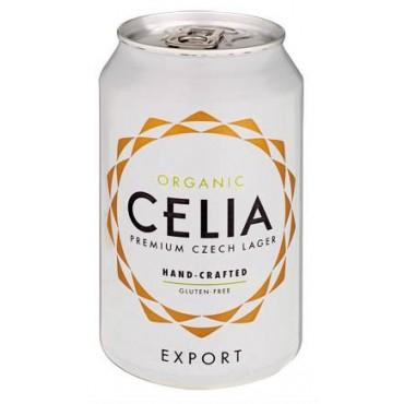 Celia pivo světlý ležák plech BIO 330ml