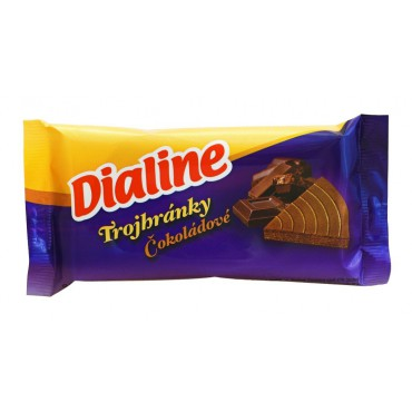 Dialine: Trojhránky čokoládové 50g