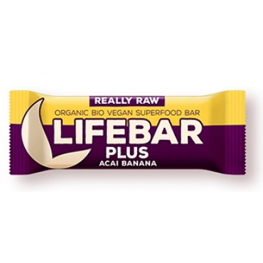 Lifebar Plus açai s banánem BIO 47g