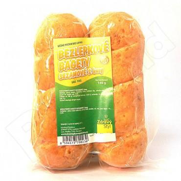 Bagety bezlepkové sezamové 140g