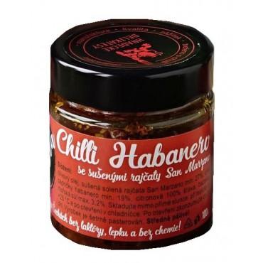 Pasta z červených chilli papriček Habanero 100g
