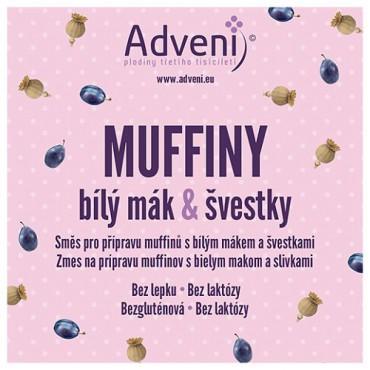 Adveni: Muffiny bílý mák & švestky 280g
