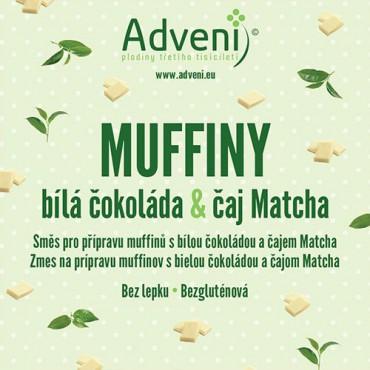 Adveni: Muffiny s Matcha tea a bílou čokoládou 280g