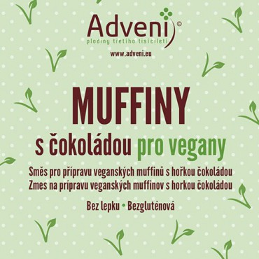 Adveni: Muffiny s čokoládou pro vegany 280g