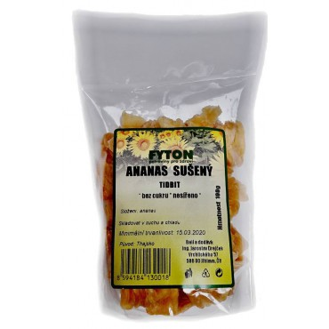 Ananas Tidbit sušený bez cukru nesířený 100g