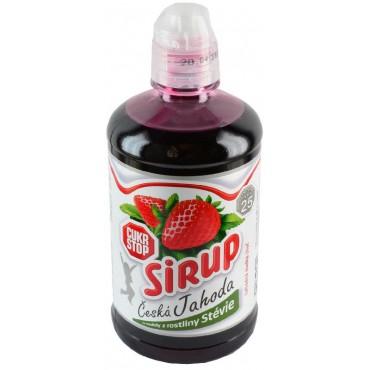 Sirup česká jahoda se stévií 500ml