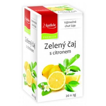 Apotheke: Zelený čaj s citronem 20x2g