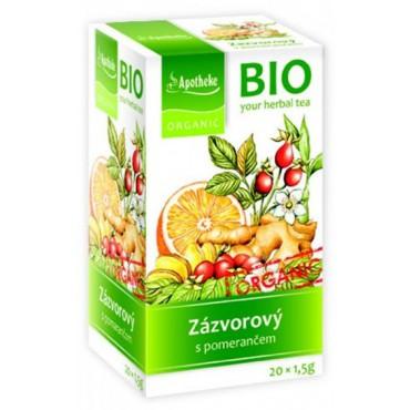 Apotheke: Ovocný čaj zázvorový s pomerančem BIO 20x1.5g