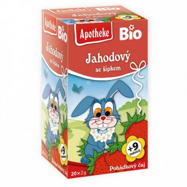 Apotheke: Čaj Jahodový se šípky BIO 20x2g