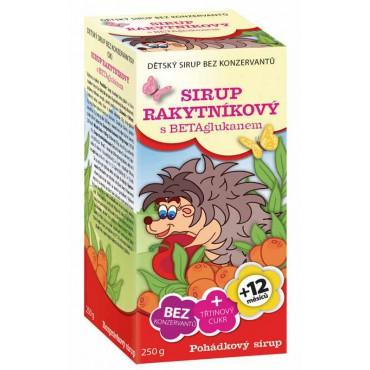 Apotheke: Pohádkový sirup Rakytníkový s betaglukanem 250g