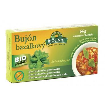Bujón bazalkový kostky BIO 66g