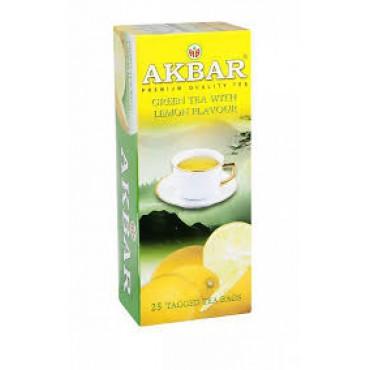 Akbar: Zelený čaj s citrónem 25x1,5g