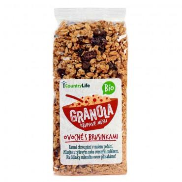 Granola křupavé müsli s klikvou BIO 350g