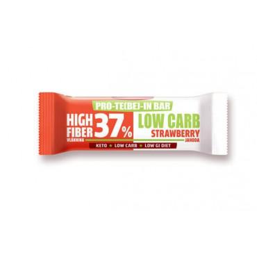 Tyčinka PRO-TE(BE)-IN Low carb jahoda 35g