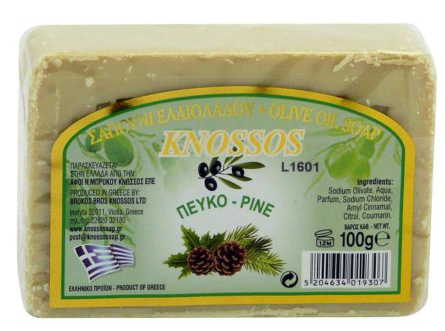 KNOSSOS: Olivové mýdlo borovice 100g