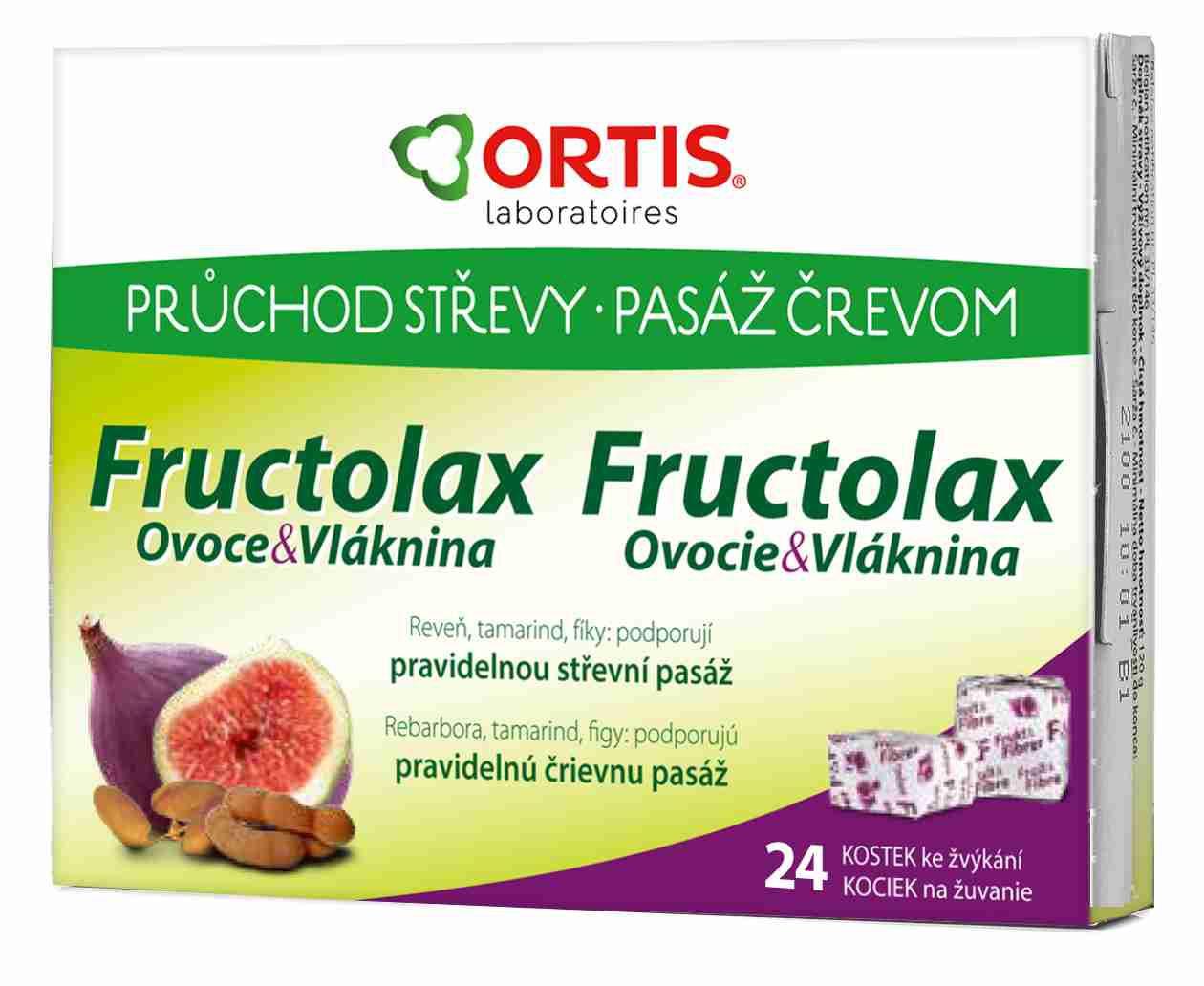 Ortis: Fructolax 24 žvýkacích kostek