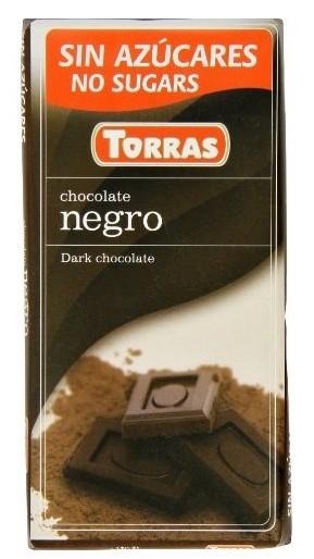 Čokoláda hořká 52% bez cukru 75g