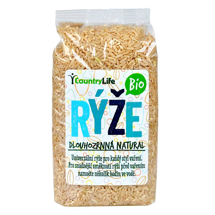 Rýže dlouhozrnná pololoupanná BIO 500g
