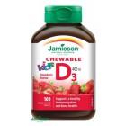 Jamieson: Vitamín D3 Kids jahoda cucací 100tbl.