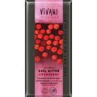Vivani: Čokoláda hořká 70% brusinky BIO 100g