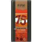 Vivany: Hořká čokoláda s kokosovým cukrem 75% BIO 80g