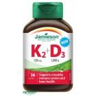 Jamienson: Vitamíny K2 120mcg a D3 1000 IU 30cps.