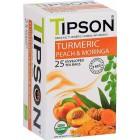 Tipson: Turmeric & Peach Moringa BIO 25x1,5g